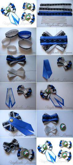 repurpose old jewelry Ribbon Art, Fabric Ribbon, Ribbon Crafts, Ribbon Bows, Fabric Flowers, Ribbons, Ribbon Decorations, Women Bow Tie, Barrettes