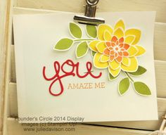 Stampin' Up! 2015 Occasions Catalog Sneak Peek: Crazy About You stamp set #stampinup www.juliedavison.com