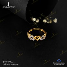 Gemstone Ring jewellery for Women by jewelegance. ✔ Certified Hallmark Premium Gold Jewellery At Best Price Gold Ring Designs, Gold Earrings Designs, Gold Jewellery Design, Gold Jewelry Simple, Gold Rings Jewelry, Gemstone Jewelry, Gold Finger Rings, Yellow Gold Rings, Rock