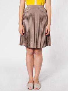 Pleated Skirt | Knee-Length | Women's Skirts | American Apparel