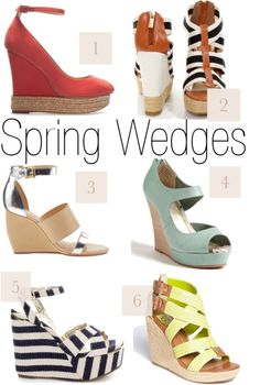 Wedge Your Way into Spring!awwww i soooo love wedges too for spring my favs are the black and white stripes beautiful awesome mwah x