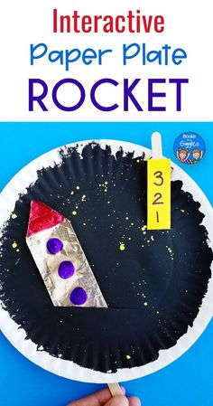 Interactive Paper Plate Rocket Craft Blastoff to Space! is part of Kids Crafts Preschool Outer Space - This interactive paper plate rocket is more than just a craft kids can count down to blastoff, and then pretend their rocket is soaring into space! Space Activities For Kids, Space Preschool, Preschool Crafts, Preschool Kindergarten, Craft Kids, Outer Space Crafts For Kids, Kids Crafts, Moon Activities, Preschool Christmas