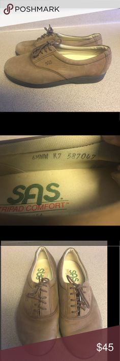 EUC SAS Tripad Suede Nubuck Brown Oxford 6.5WW Pre-Owned SAS Tripad  Whisper Comfort Suede Nubuck Brown Lace Up Tie Oxfords Shoes 6.5WW. Used only once. SAS Shoes Flats & Loafers