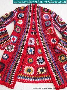 Transcendent Crochet a Solid Granny Square Ideas. Inconceivable Crochet a Solid Granny Square Ideas. Gilet Crochet, Crochet Coat, Crochet Cardigan, Crochet Clothes, Crochet Shirt, Crochet Sweaters, Crochet Squares, Crochet Granny, Crochet Stitches
