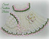 Baby Girl weißen Kleid - Taufe, Taufe, besonderen Anlass - Neugeborenen bis 9 Monate
