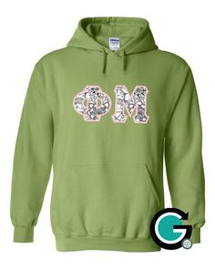 CUSTOM Gildan Stitched Greek (Sorority or Fraternity) Letter Hoodie -- Color your own letters! by GoneGreek on Etsy