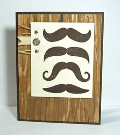 Many Mustaches - Index Card by galleryindex - Cards and Paper Crafts at Splitcoaststampers
