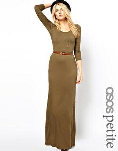Long Sleeve Maxi Dress With Belt by DaisyCombridge