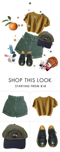"""yellow love"" by paigealexandrialee ❤ liked on Polyvore featuring Schumacher and Dr. Martens"