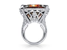 Ottoman Princess: Zultanite® & Diamond 18K White Gold Ring (Mixed Light)