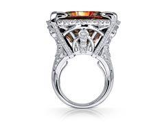 Ottoman Princess: Zultanite® & Diamond 18K White Gold Ring (Mixed Light)