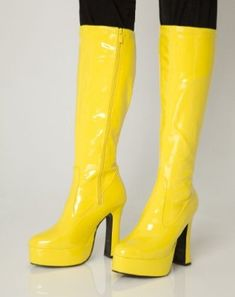 3bab66cd010a Platform Boots - Yellow Patent - Size 6  Amazon.co.uk  Shoes   Bags