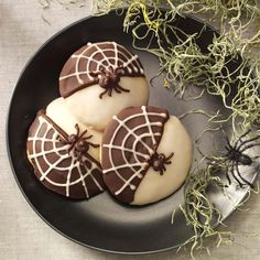 Black & White Spider Cookies Recipe -Those eight-legged creatures aren't so creepy when you turn them into cookies. Make these treats any time of year—just skip the cobwebs and spiders. —Taste of Home Food Styling Team