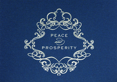 PEACE AND PROSPERITY  Wish them the best for the holiday season and the new year! This extraordinary holiday card says it all with a silver foil embossed crest and wording against a shimmering blue background. - See more at: http://greetingcardcollection.com/products/holiday-cards-holiday-greetings/447-peace-and-prosperity