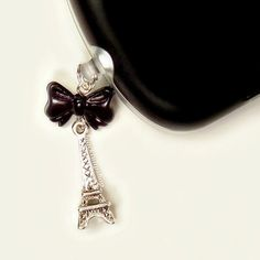 NEW PHOTO - Cell Phone Charm Dust Plug Earphone Paris Eiffel by blacktulipshop, $5.00