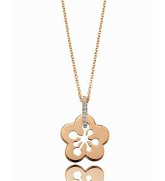 Boodles Blossom Classic Rose Gold Pendant