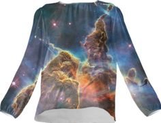 Mystic Galaxy Silk Top - Available Here: http://printallover.me/collections/sondersky/products/0000000p-mystic-galaxy-3