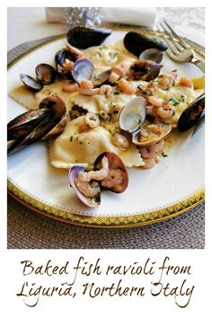 Low Carb Recipes To The Prism Weight Reduction Program If You Are A Fish And Seafood Lover, This Baked Fish Ravioli From Liguria In Northern Italy Is An Absolute Must-Try Its Perfect For Special Occasions Like Valentines Day, Birthdays And Holidays. Yummy Pasta Recipes, Fish Recipes, Seafood Recipes, Mexican Food Recipes, Dinner Recipes, Noodle Recipes, Delicious Recipes, Seafood Dishes, Fish And Seafood