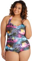 Gorgeous Rainbow one piece swimsuit in rainbow galaxy for my plus size girls!