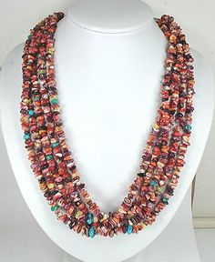 Navajo Spiny Oyster Corn  Necklace