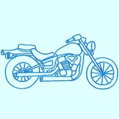 Motorcycle Sketch Embroidery Designs 3 sizes  by LunaEmbroidery, $2.99