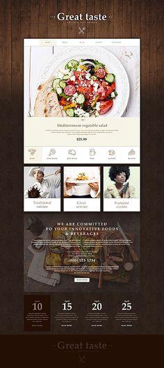 Gourmet Tavern Website #Muse #template. #themes #business #webtemplates