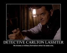 Detective Carlton Lassiter of Psych. He knows a military formation when he sees one. Psych Tv, Psych Memes, Psych Quotes, Carlton Lassiter, Shawn Spencer, I Know You Know, Funny Art, Tv Funny, Funny Stuff