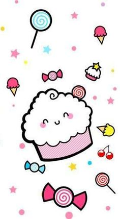 Sweet Treats Wallpaper..cupcake