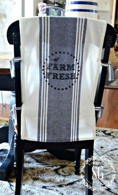 NO SEW SUMMER CHAIR BACK COVERS A great and easy way to change the look of your decor!