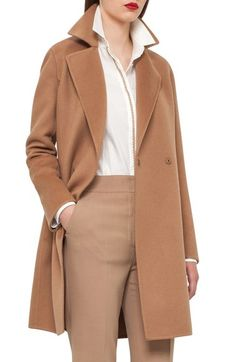 Main Image - Akris Reversible Double Face Cashmere Coat