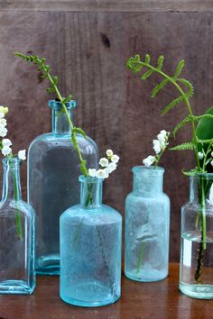 Vintage Medical Bottles  Free shipping in USA by vintagewall, $40.00