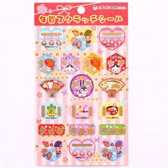 lucky stickers with gold embellishments to scratch & wishes for the new year