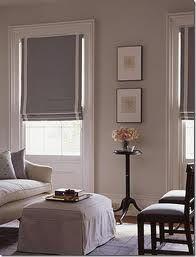 Love Those Windows Molding Gray Roller Roman Blinds Wall