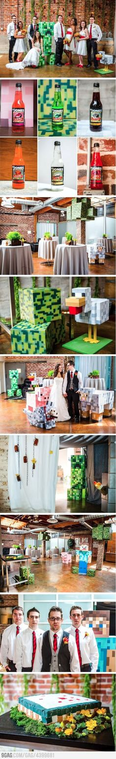 Just some random minecraft wedding