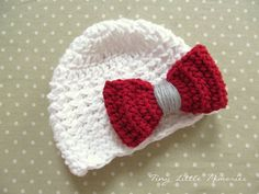 crochet ohio state hats | Ohio State Baby Girl, OSU Buckeye Crochet Hat, OSU Bow Hat - Made to ...