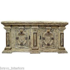 Sideboard-Buffet-Cabinet-French-Country-Washed-Finished-Solid-Hardwood-New