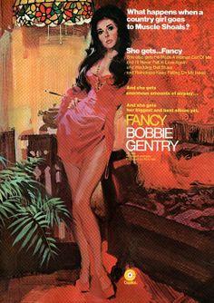 Ad for Bobbie Gentry's album Fancy, 1970.