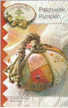 Patchwork Pumpkin Pillow Pattern by LavenderQuiltShop on Etsy