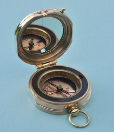 SOLID BRASS PUSH BUTTON COMPASS ANTIQUE SOLID BRASS COMPASS GIFT BOX 10 pcz