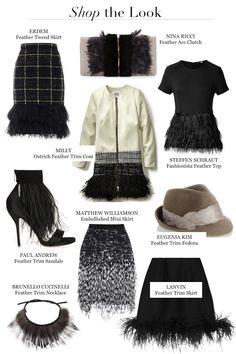 Fall 2014 Fashion Trends Feathers Ungaro Lanvin Alberta Ferretti Feather trim feather embellished