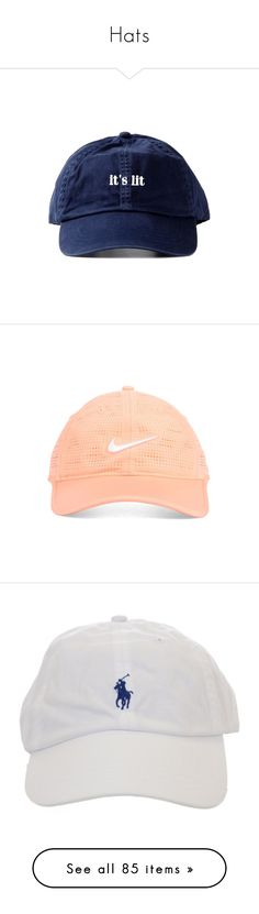 """""""Hats"""" by power-beauty ❤ liked on Polyvore featuring accessories, hats, caps hats, nike golf, nike golf cap, nike golf hat, fillers, headwear, head e baseball cap"""