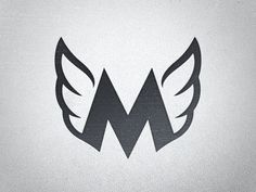 New logo mark M wings Typography Logo, Graphic Design Typography, Lettering Design, Branding Design, Negative Space Art, Gfx Design, Wings Logo, Grafik Design, Letter Logo