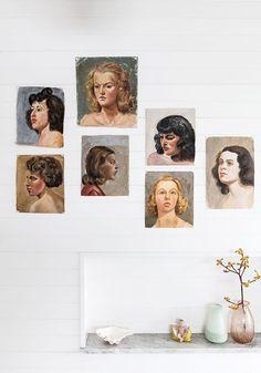portrait paintings art gallery wall. / sfgirlbybay