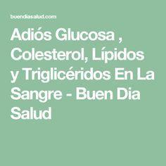 Adiós Glucosa , Colesterol, Lípidos y Triglicéridos En La Sangre - Buen Dia Salud
