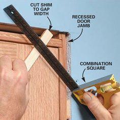 perfect trim on door
