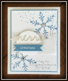Holly Jolly Greetings Bundle by Stampin' Up!  Printable Supply List on my blog:http://stampininthesand.blogspot.com/2015/12/card-jolly-holiday-marina-mist-case.html #stampinup, #christmascards, #christmas, #stampininthesand