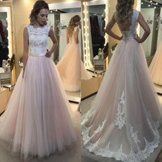 2017 Lace A-line Ball Gown Elegant Charming Formal Prom Dresses. BD030 – AlineBridal