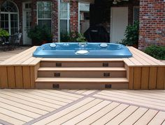 Hot Tub Deck Design Hot Tub Patio Ideas, Outdoor Hot Tubs With Decks Deck With Hot Tub - Lighting Furniture Design Hot Tub Backyard, Backyard Patio, Sunken Patio, Backyard Landscaping, Outdoor Spa, Outdoor Living, Design Patio, Backyard Designs, Backyard Ideas