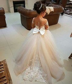 Vestido de princesa champán