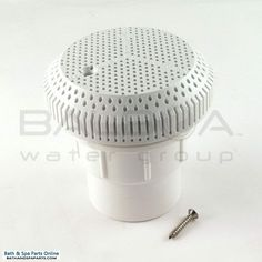 Balboa High-Volume Suction Assembly With Straight Nut [White] (10-6800WHT)